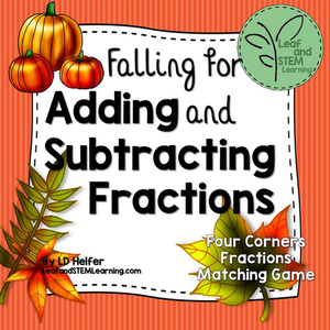 Adding and Subtracting Fractions Fall Freebie