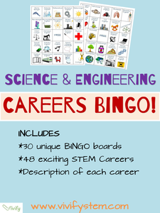 STEM Careers BINGO Game