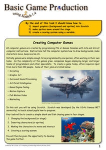 Creating a Computer Game Using Scratch