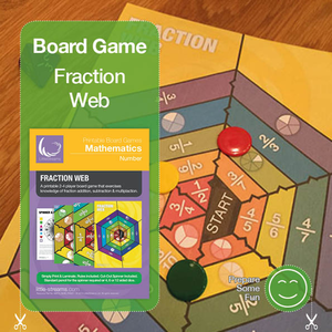 Fraction Web Board Game