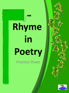 Rhyme in Poetry Practice Sheet