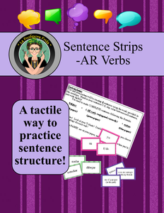 Spanish, Tactile Sentence Structure Practice