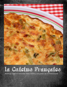 French cuisine: Cultural activity unit