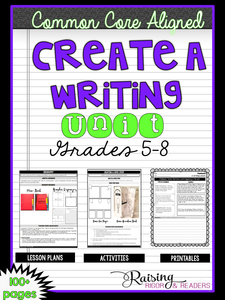 Creating a Writing Unit: Bundle