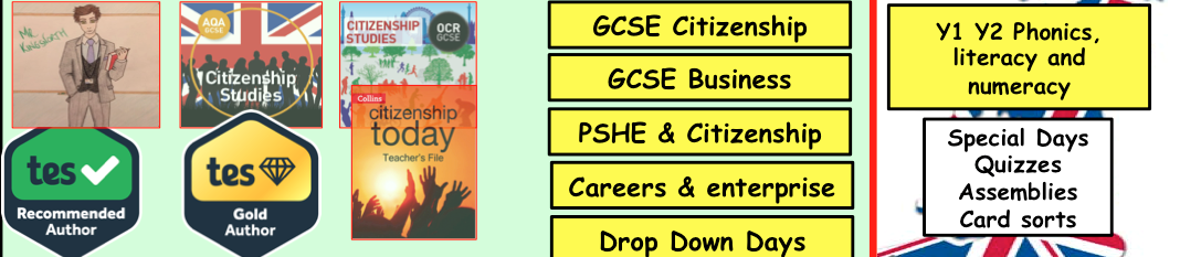 Citizenship, Business, Careers, Enterprise and PSHE Shop