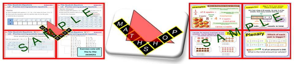 Shamster's Maths Shop