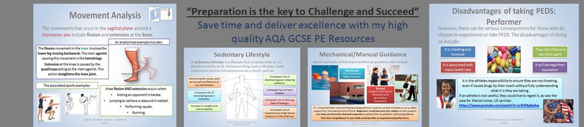 Prepare to Succeed in PE: GCSE Exam Preparation and Theory Resource Shop